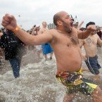 9 hilarious images of people taking the polar bear plunge - The Week