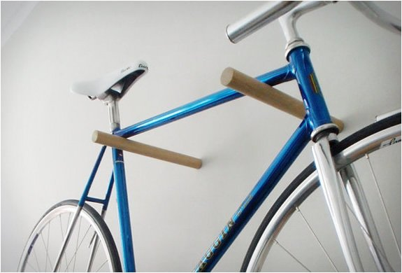 Minimal Wood Bicycle Hook