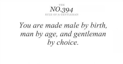 Rule of a Gentleman