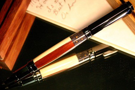 Handcrafted wood pen in American flag by Hope & Grace Pens