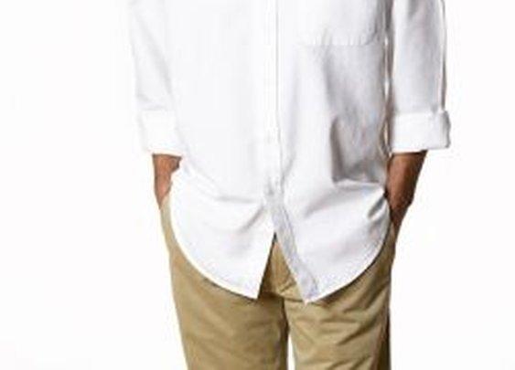 Men's Washed Solid Oxford Shirts- Natural BasiX