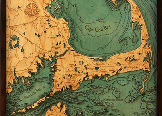 Wooden Maritime Boat Maps