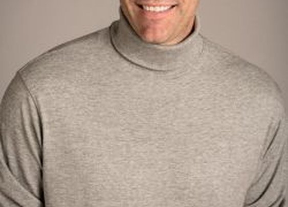 Natural Basix Classic Turtleneck in Heather Grey