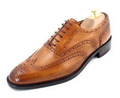 A classic brogue with a wing tip and full broguing