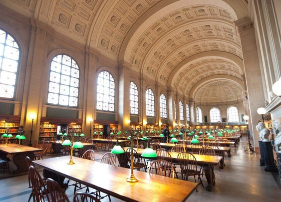 Bates Hall - Boston Public Library (A Man's Study Hall)