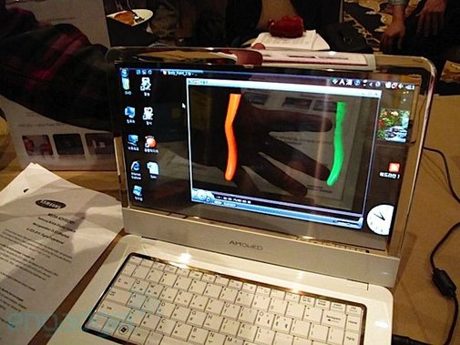 Samsung's transparent OLED laptop  - Well Done Stuff !