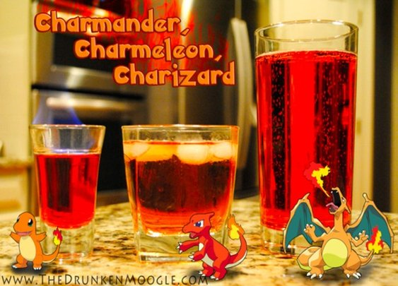 Gotta Drink 'Em All: Evolving Pokémon Cocktails - StumbleUpon