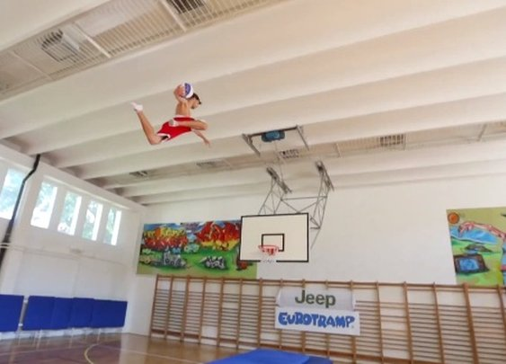 Slam Dunk Supertramp Style: Monster Trampoline Dunks