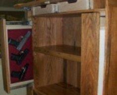 Bookcase Furniture with Secret Gun Storage