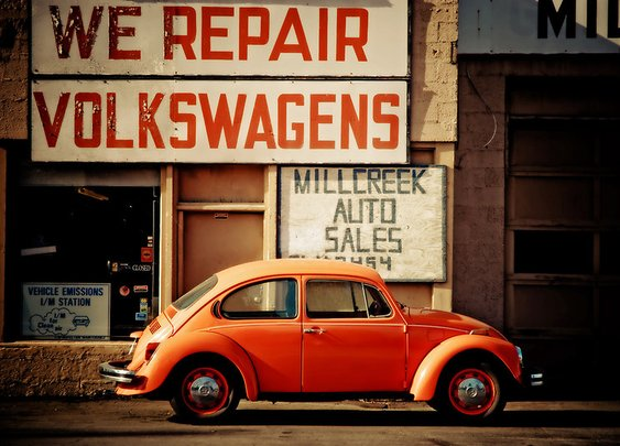 """We Repair Volkswagens"" Photographic Prints by Sam Scholes 