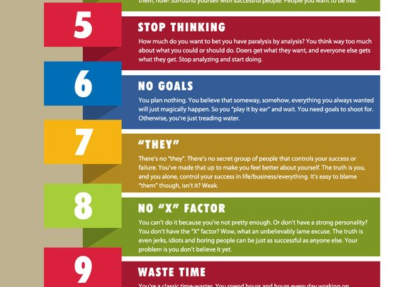 13 Reasons Why You Might Not Be Successful   Infographic