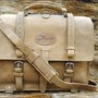 Rustic Vintage Leather Briefcase