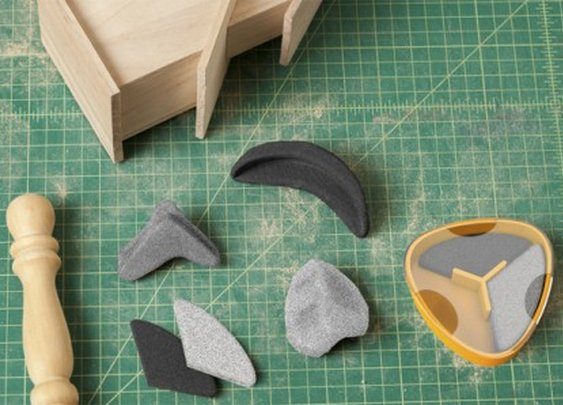 Sandables mold into any shape for precise woodwork