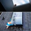 How to freak out your guests - tape a doll to your window !! Hehe. Love this.