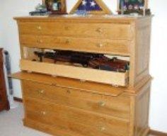 Dresser with Hidden Gun Cabinet Drawer