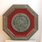 Large Aztec Wall Hanging Vintage Octagonal Wood with by MollyFinds