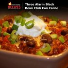 Three Alarm Black Bean Chili Con Carne
