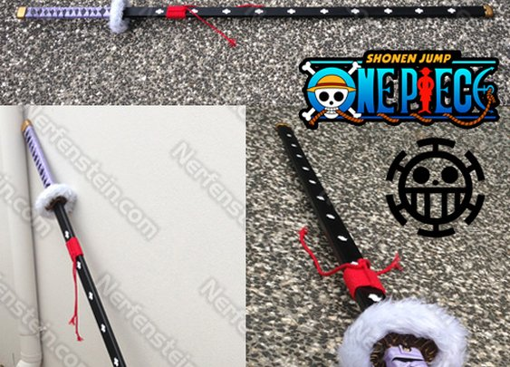 Trafalgar Law One Piece Nodachi sword prop 6′ tall by Nerfenstein