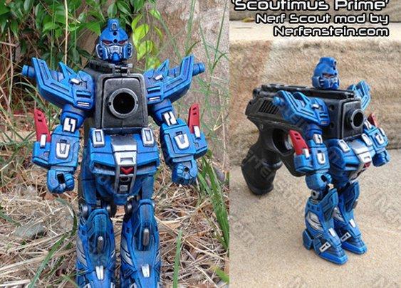 Scoutimus Prime Transformers / Gundam style Nerf mod by  Nerfenstein