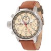 Invicta Men's 12083 I-Force Chronograph Matte Ivory Dial Brown Cloth Watch
