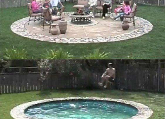 James Bondy: Tranformer Patio Conceals Secret Pool   Geekologie