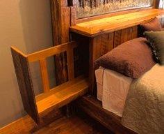 Hidden Compartment in Bed Headboard