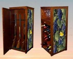 Secret Gun Cabinet Behind Wine Rack