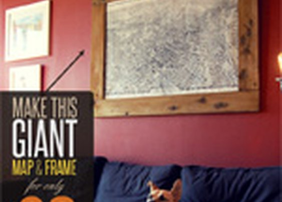 Make This Giant Map & Frame For Only $30 - Primer