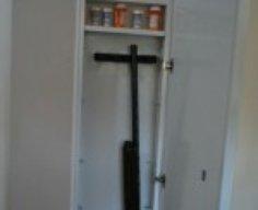 Hidden Gun Storage Cabinet Behind Mirror