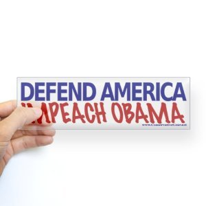 Impeach Obama Bumper Sticker Sticker Bumper by CafePress