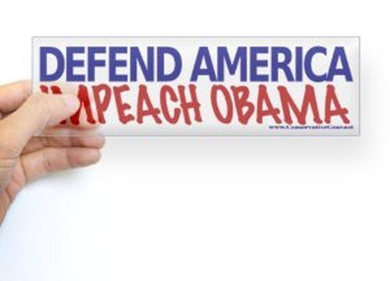 Impeach Obama Bumper Sticker Sticker Bumper by CafePress