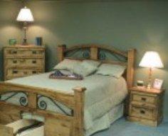Bed with Secret Gun Storage Drawer
