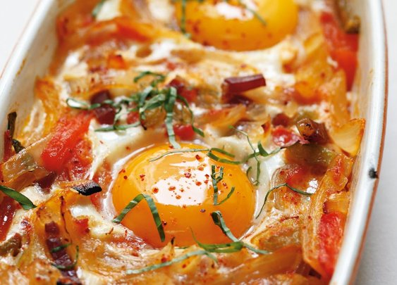 Basque-Style Baked Eggs