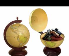Globe with Secret Gun Storage