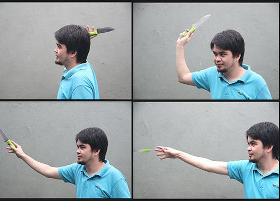 2 Ways to Throw a Knife Without It Spinning