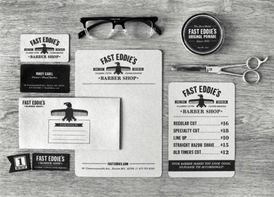 Branding | fast eddies barber shop // richie stewart (http://www.behance.net/CommonerInc)