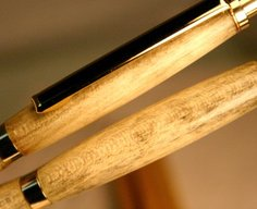 Wood Pen Pencil Set with antique look in 24k gold by Hope & Grace Pens
