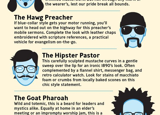 A field guide to pastoral facial hair