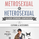Metrosexual vs Heterosexual  | Graphic by Ties.com