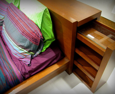 Secret Compartment Drawer in Headboard