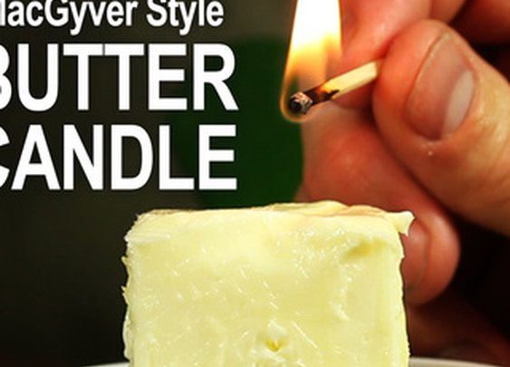 Make a Butter Candle - Emergency Candle McGyver Style!