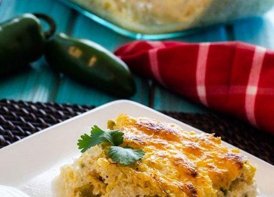 Cheesy Green Chile Quinoa Casserole - Cooking Quinoa