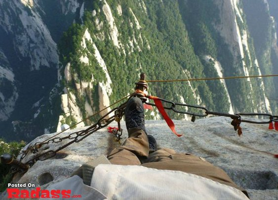 Mt. Huashan Hiking Trail in China