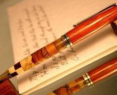 Wood pen in kaleidoscope abstract wood pattern by Hope & Grace Pens