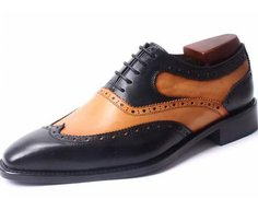 Two Tone Hand Made Brogue Shoes