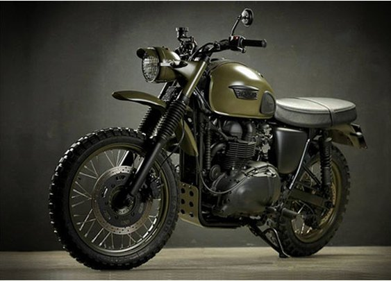 Triumph Desert by Drags and Racing // thecoolist.com