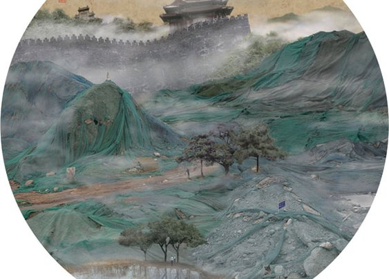 Photos of Trash Heaps Made to Look Like Chinese Landscape Paintings