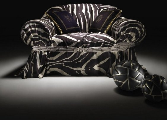 Roberto Cavalli's first collection of artistic furniture