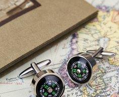 Working Compass Cufflinks