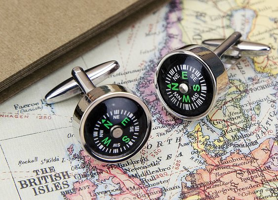Working Compass Cufflinks